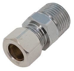 Chicago Faucets - 1022-007JKRCF - COMP FIT 3/8 Tube X 3/8 NPT