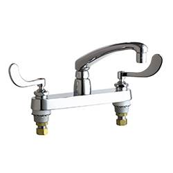 Chicago Faucets - 1100-317CP - 8-inch Center Deck Mounted Sink Faucet