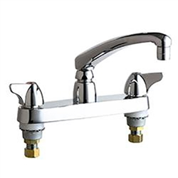 Chicago Faucets - 1100-CP - 8-inch Center Deck Mounted Sink Faucet