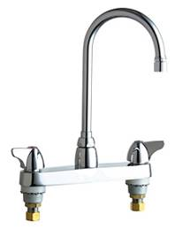 Chicago Faucets - 1100-GN2AE3XKABCP - 8-inch Center Deck Mounted Sink Faucet