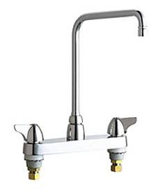 Chicago Faucets - 1100-HA8VPCABCP - 8-inch Center Deck Mounted Sink Faucet