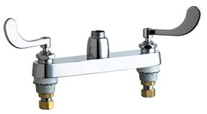 Chicago Faucets - 1100-LES317AB - 8-inch Center Deck Mounted Sink Faucet