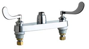 Chicago Faucets - 1100-LES317XKAB - 8-inch Center Deck Mounted Sink Faucet