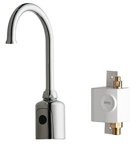 Chicago Faucets 116.935.AB.1 - HyTronic Gooseneck Sink Faucet with Dual Beam Infrared Sensor