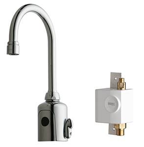 Chicago Faucets 116.943.AB.1 - HyTronic Gooseneck Sink Faucet with Dual Beam Infrared Sensor
