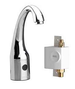 Chicago Faucets 116.957.AB.1 - HyTronic Curve, SSPS, single supply for tempered water