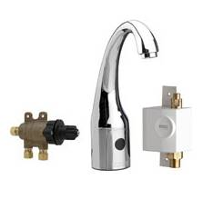 Chicago Faucets 116.977.AB.1 - HyTronic Curve, SSPS, single supply with external thermostatic mixer