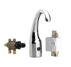 Chicago Faucets 116.979.AB.1 - HyTronic Curve, SSPS, single supply with external thermostatic mixer with laminar flow device