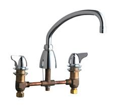 Chicago Faucets - 1201-ACP - 8-inch Deck Mounted Kitchen Sink Faucet