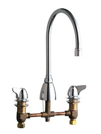 Chicago Faucets - 1201-AGN8AE29CP - 8-inch Deck Mounted Kitchen Sink Faucet