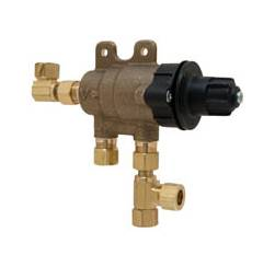 Chicago Faucets 131-CABNF Thermostatic Mixing Valve with Standard 3/8 inch compression inlet and outlet connections