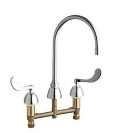 Chicago Faucets - 201-AGN10AE3SWG317AB - Kitchen Sink Faucet without Spray