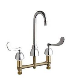 Chicago Faucets - 201-AGN1AE3-317AB - Kitchen Sink Faucet without Spray