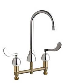 Chicago Faucets - 201-AGN2AE3-317VPACP - Kitchen Sink Faucet without Spray