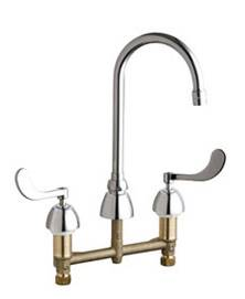 Chicago Faucets - 201-AGN2AE3-317XKCP - Kitchen Sink Faucet without Spray