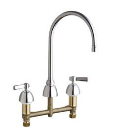Chicago Faucets - 201-AGN8AE2805-5ABCP - ECAST™ KITCHEN SINK FAUCET