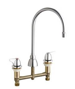 Chicago Faucets 201-AGN8AE29-1000CP - CONCEALED KITCHEN SINK FAUCET