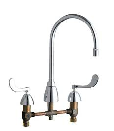 Chicago Faucets - 201-AGN8AE29-317CP - Kitchen Sink Faucet without Spray