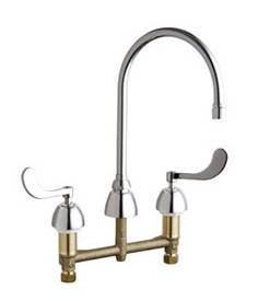 Chicago Faucets - 201-AGN8AE3-317VPACP - Kitchen Sink Faucet without Spray