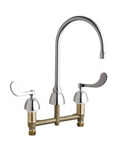 Chicago Faucets - 201-AGN8AE3-317XKCP - Kitchen Sink Faucet without Spray