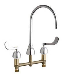 Chicago Faucets - 201-AGN8AE35-317CP - Kitchen Sink Faucet without Spray