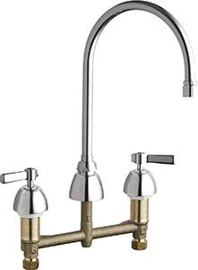 Chicago Faucets - 201-AGN8AE3VPCABCP - Kitchen Sink Faucet without Spray