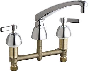 Chicago Faucets - 201-AL8ABCP - Kitchen Sink Faucet without Spray