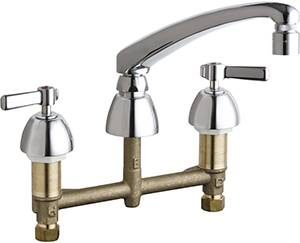 Chicago Faucets - 201-AL8E29VP317XKAB - Kitchen Sink Faucet without Spray