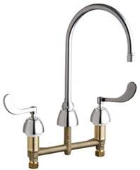 Chicago Faucets - 201-AGN8AE2805-5-317AB - ECAST™ LEAD FREE KITCHEN SINK FAUCET