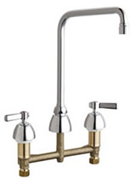 Chicago Faucets 201-RSHA8AE35VPXKAB - 8-inch Center Concealed Kitchen Sink Faucet, Less Side Spray