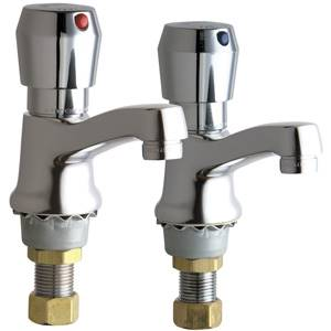 Chicago Faucets - 333-665PRCP - Single Water Inlet, Self-Closing Metering Faucet