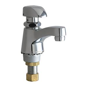 Chicago Faucets - 335-E12PSHCP - Single Faucet Metering