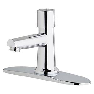 Chicago Faucets 3500-8E2805ABCP - 8-inch Center Single Supply Metering Sink Faucet