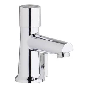 Chicago Faucets 3502-E2805ABCP - Single Hole Mount Hot and Cold Water Metering Mixing Sink Faucet
