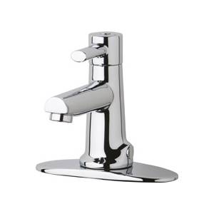 Chicago Faucets 3511-4E2805AB - Single Handle Hot and Cold Water Mixing Sink Faucet