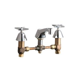 Chicago Faucets - 403-CP - Widespread Lavatory Faucet