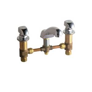 Chicago Faucets - 404-335CP - Widespread Lavatory Faucet