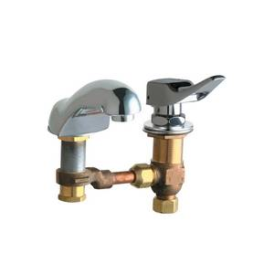 Chicago Faucets - 404-336CWCP - Widespread Lavatory Faucet