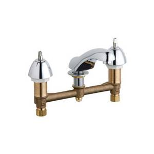 Chicago Faucets - 404-633LESSHDLCP - Widespread Lavatory Faucet