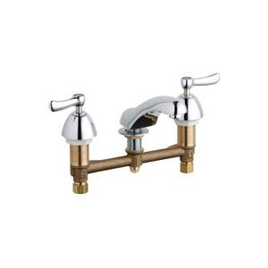 Chicago Faucets - 404-ABCP - Widespread Lavatory Faucet