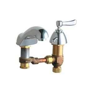 Chicago Faucets - 404-CWCP - Widespread Lavatory Faucet