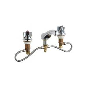 Chicago Faucets 404-HZ950CP - Fully Adjustable Widespread Concealed Deck Mount Lavatory Sink Faucet