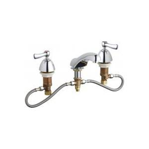 Chicago Faucets 404-HZCP - Fully Adjustable Widespread Concealed Deck Mount Lavatory Sink Faucet