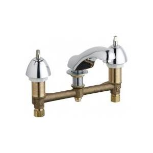 Chicago Faucets - 404-LESSHDLXKAB - Widespread Lavatory Faucet