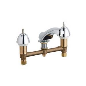 Chicago Faucets - 404-LESSHDLXKCP - Widespread Lavatory Faucet