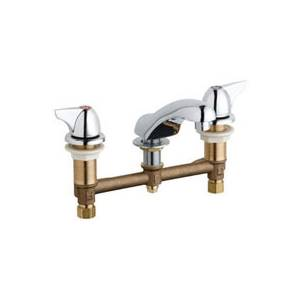 Chicago Faucets - 404-V1000ABCP - Widespread Lavatory Faucet