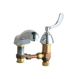 Chicago Faucets - 404-V317CWCP - Widespread Lavatory Faucet