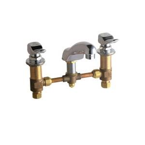 Chicago Faucets - 404-V336CP - Widespread Lavatory Faucet