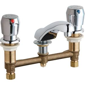 Chicago Faucets - 404-V665CP - Widespread Lavatory Faucet
