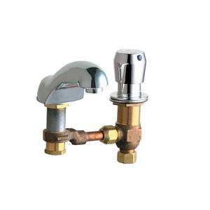 Chicago Faucets - 404-V665CWCP - Widespread Lavatory Faucet
